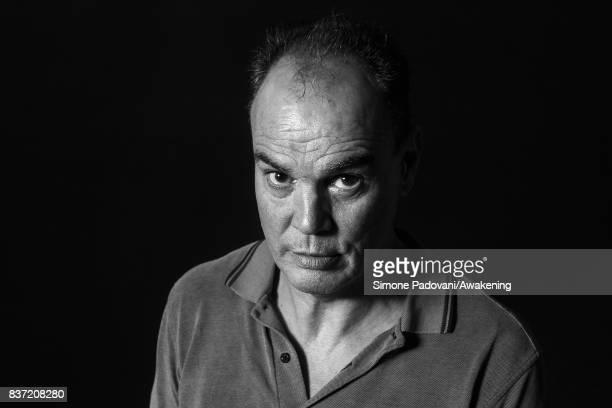 Jake Arnott attends a photocall during the Edinburgh International Book Festival on August 22 2017 in Edinburgh Scotland