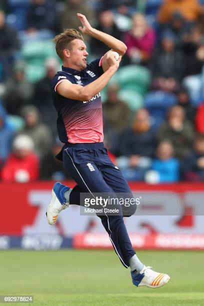 Jake Ball of England during the ICC Champions Trophy match between England and New Zealand at the SWALEC Stadium on June 6 2017 in Cardiff Wales