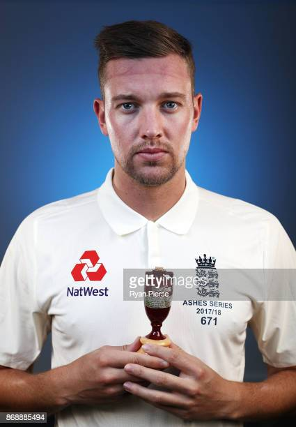 Jake Ball of England poses during the 2017/18 England Ashes Squad portrait session at the WACA on November 1 2017 in Perth Australia