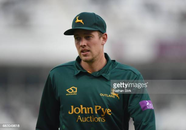 Jake Ball of Nottingham looks on during the Royal London OneDay Cup match between Nottinghamshire Outlaws and Durham at Trent Bridge on May 11 2017...