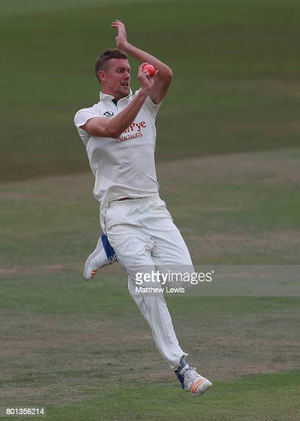 Jake Ball of Nottinghamshire in action during the Specsavers County Championship Division Two match between Nottinghamshire and Kent at Trent Bridge...