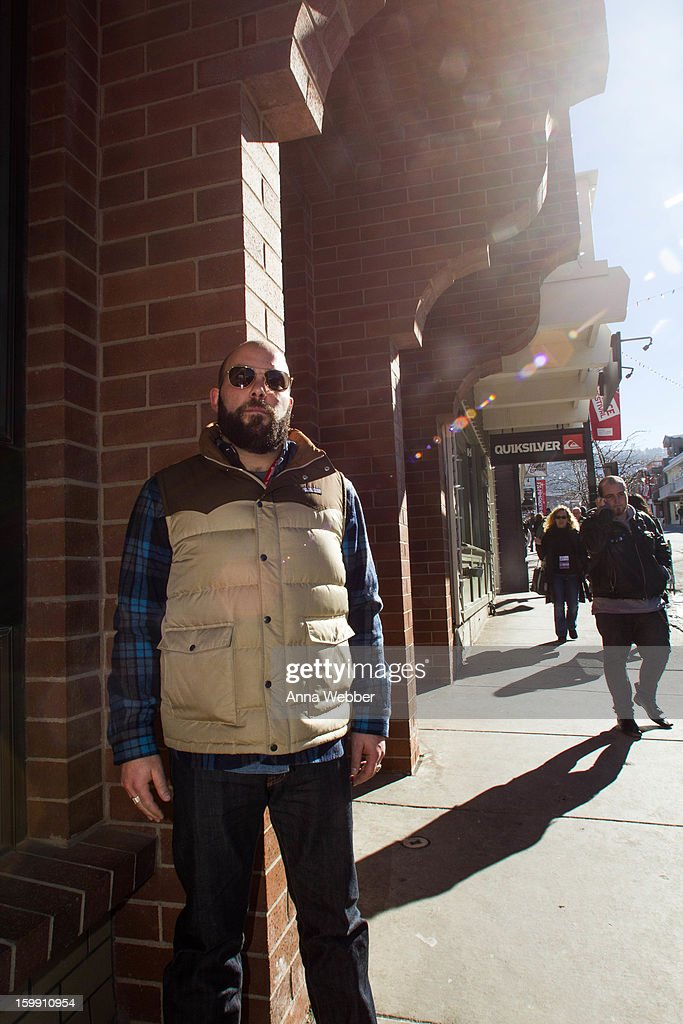 Jake Bandman, Producer from Brooklyn, wearing American Optical sunglasses, Patagonia vest, Archive Denim Trade flannel, Jeanshop jeans, and Frye boots on January 22, 2013 in Park City, Utah.
