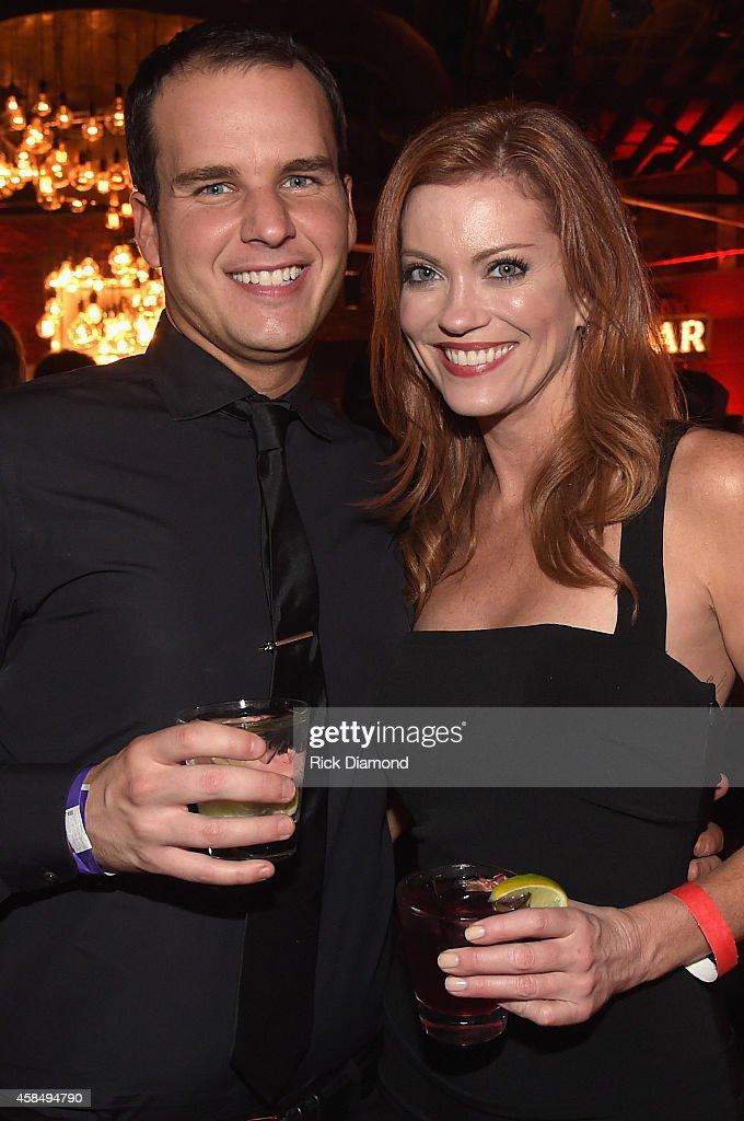 Jake Basden and Alecia Davis attend the Big Machine Label Group Celebrates The 48th Annual CMA Awards in Nashville on November 5, 2014 in Nashville, Tennessee.