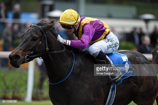 Jake Bayliss riding Chiavari wins Race 6 during Melbourne Racing at Moonee Valley Racecourse on June 18 2016 in Melbourne Australia