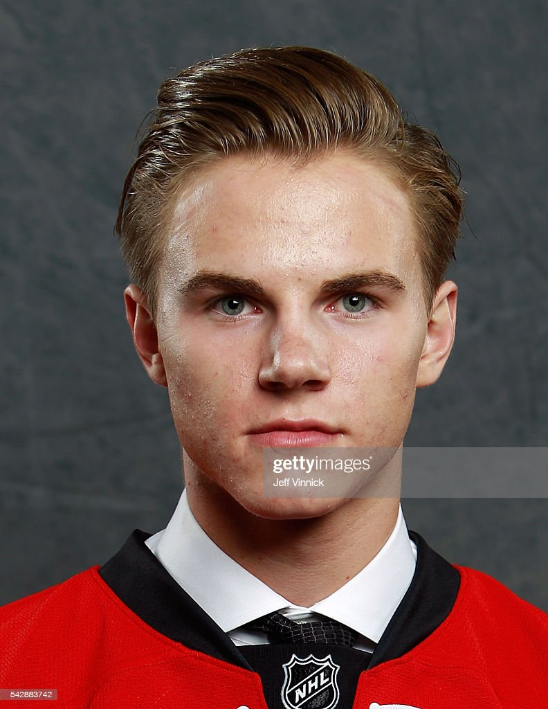 Jake Bean, selected 13th overall by the Carolina Hurricanes, poses for a portrait during round one of the 2016 NHL Draft at First Niagara Center on June 24, 2016 in Buffalo, New York.