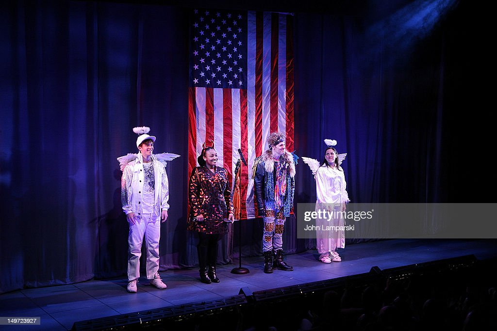 Jake Boyd, natalie Venetia Belcon, John Bolton and Farah Alvin perform at 'The Last Smoker In America' Hosts 'Smoke-in/Smoke-Out' at The Westside Theatre on August 2, 2012 in New York City.