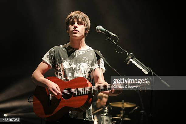 Jake Bugg performs at 'Crisis Presents' at Hammersmith Apollo on December 20 2013 in London England