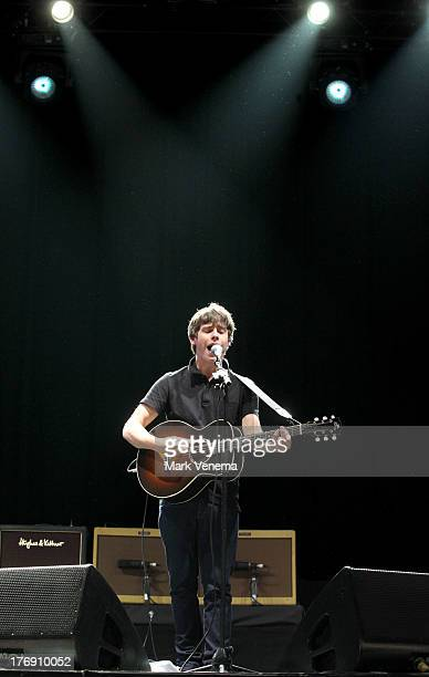 Jake Bugg performs at day 3 of the Lowlands Festival on August 18 2013 in Biddinghuizen Netherlands