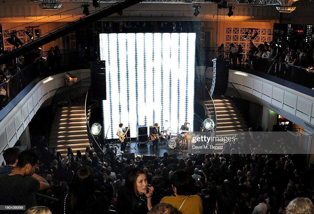 Jake Bugg performs attends the Burberry Live at 121 Regent Street event on January 31, 2013 in London, England.