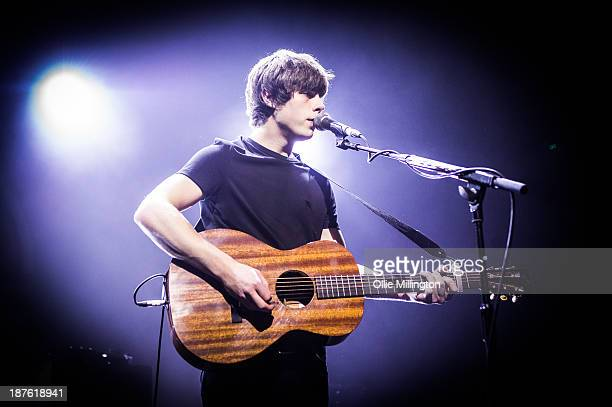Jake Bugg performs during a date of his Autumn UK 2013 Tour the week before his 2nd album is set to be released at the 02 Academy Birminghm on...