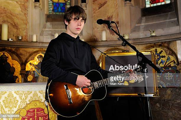 Jake Bugg performs for the Absolute Radio Christmas Session at The Chapel in the House of St Barnabas on December 19 2013 in London England