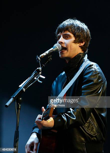 Jake Bugg performs on Day 2 of the Reading Festival at Richfield Avenue on August 23 2014 in Reading England