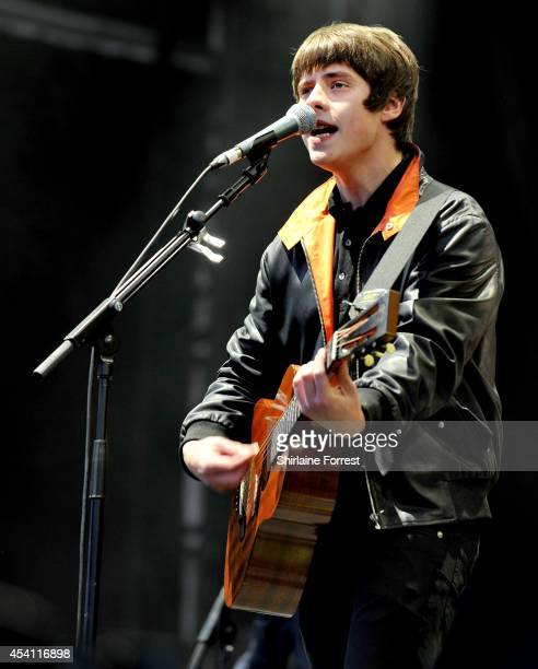 Jake Bugg performs on Day 3 of the Leeds Festival at Bramham Park on August 24 2014 in Leeds England
