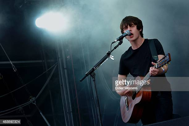 Jake Bugg performs on stage at Sziget Festival on August 13 2014 in Budapest Hungary