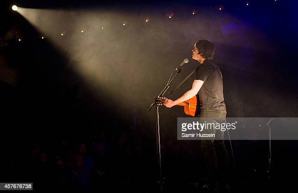 Jake Bugg performs on stage for Mencap's Little Noise Sessions at the Union Chapel on October 22 2014 in London United Kingdom