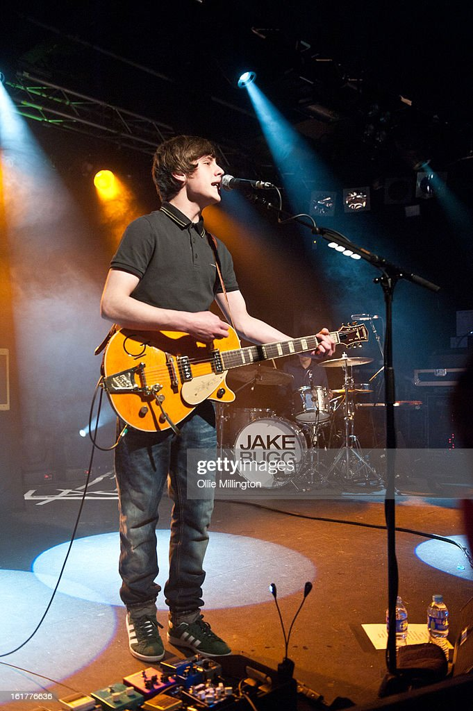 Jake Bugg performs on stage in his hometown at Rock City on February 15, 2013 in Nottingham, England.