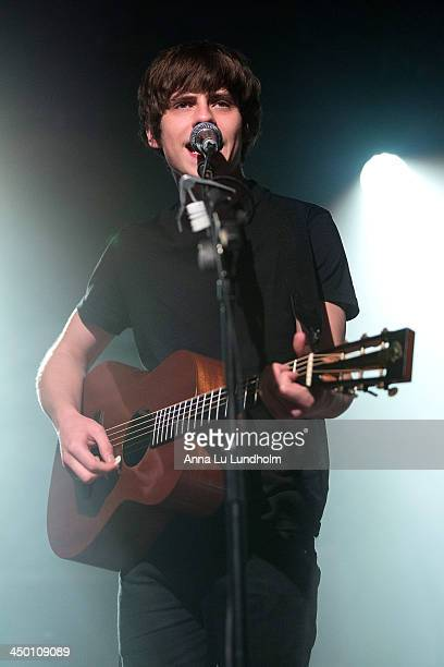 Jake Bugg performs on stage on November 16 2013 in Stockholm Sweden