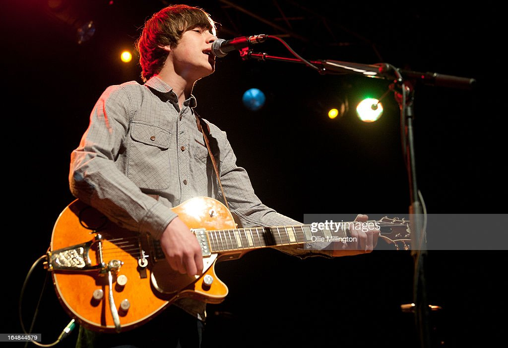 <a gi-track='captionPersonalityLinkClicked' href=/galleries/search?phrase=Jake+Bugg&family=editorial&specificpeople=9148742 ng-click='$event.stopPropagation()'>Jake Bugg</a> performs onstage during his March 2013 UK tour at o2 Academy on March 28, 2013 in Leicester, England.