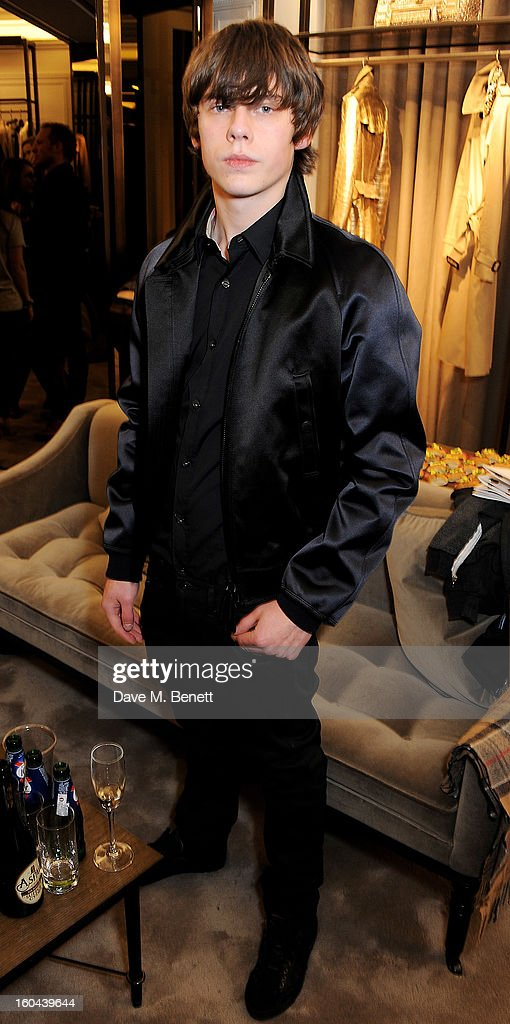 Jake Bugg, wearing Burberry, attends the Burberry Live at 121 Regent Street event on January 31, 2013 in London, England.