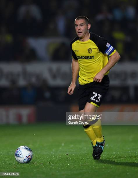 Jake Buxton of Burton during the Sky Bet Championship match between Burton Albion and Aston Villa at Pirelli Stadium on September 26 2017 in...