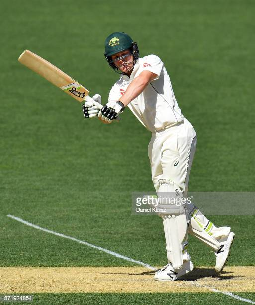 Jake Carder of CA XI bats during day two of the Four Day Tour match between the Cricket Australia XI and England at Adelaide Oval on November 9 2017...