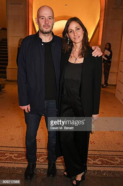 Jake Chapman and Rosemary Ferguson attend a private view of 'Vogue 100 A Century of Style' hosted by Alexandra Shulman and Leon Max at the National...