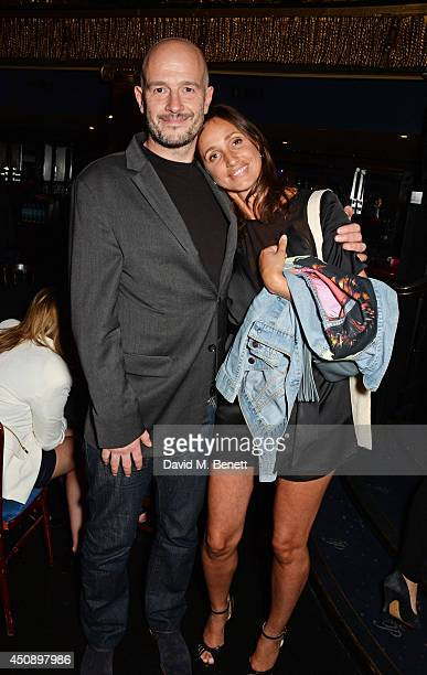 Jake Chapman and Rosemary Ferguson attend The Hoping Foundation's 'Starry Starry Night' Benefit Evening for Palestinian Refugee Children at Cafe de...