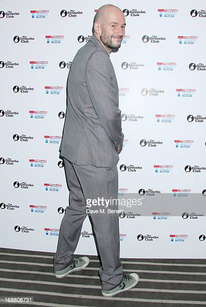 Jake Chapman arrives at the annual fundraising art auction in aid of Teenage Cancer Trust at The Groucho Club on May 15 2013 in London England