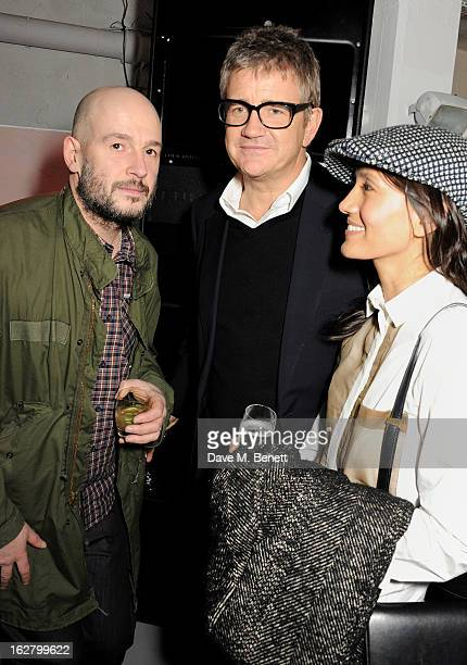 Jake Chapman Jay Jopling and Hikari Yokoyama attend the launch of artist Dinos Chapman's first album 'Luftbobler' at The Vinyl Factory on February 27...