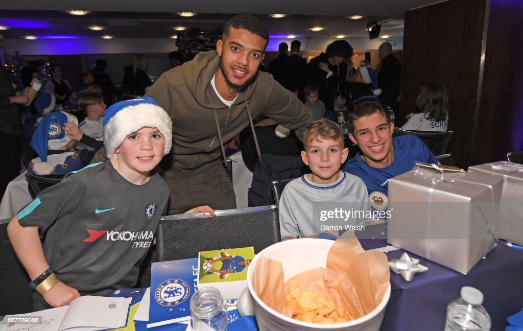 Jake Clarke-Salter at the Chelsea FC kids Christmas party December 7, 2017 in London, England.