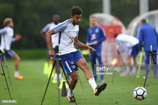 Jake ClarkeSalter of Chelsea at Chelsea Training Ground on August 24 2017 in Cobham England