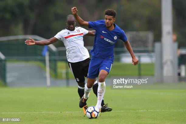 Jake ClarkeSalter of Chelsea during a friendly match between Chelsea and Fulham at Chelsea Training Ground on July 15 2017 in Cobham England