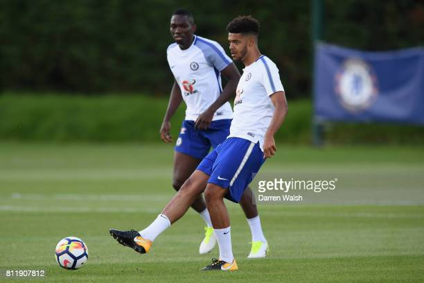 Jake ClarkeSalter of Chelsea during a training session at Chelsea Training Ground on July 10 2017 in Cobham England