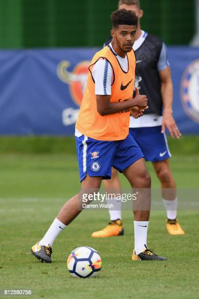 Jake ClarkeSalter of Chelsea during a training session at Chelsea Training Ground on July 11 2017 in Cobham England