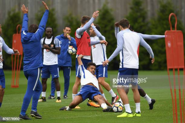 Jake ClarkeSalter of Chelsea during a training session at Chelsea Training Ground on August 10 2017 in Cobham England