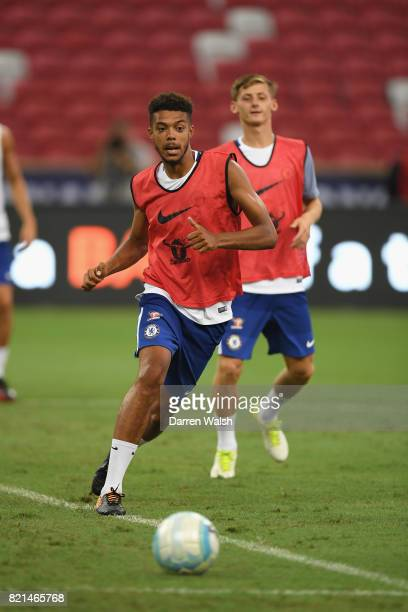 Jake ClarkeSalter of Chelsea during a training session at Singapore National Stadium on July 24 2017 in Singapore