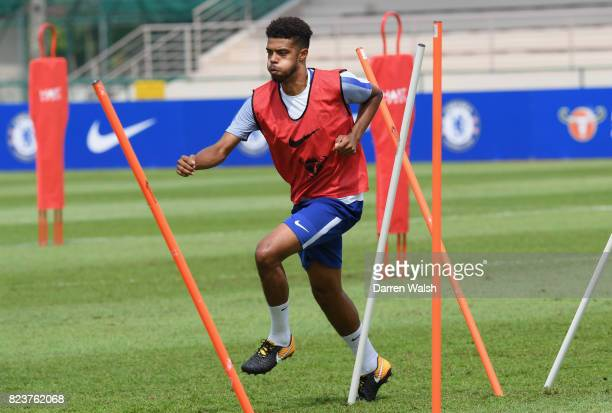 Jake ClarkeSalter of Chelsea during a training session at Singapore American School on July 28 2017 in Singapore