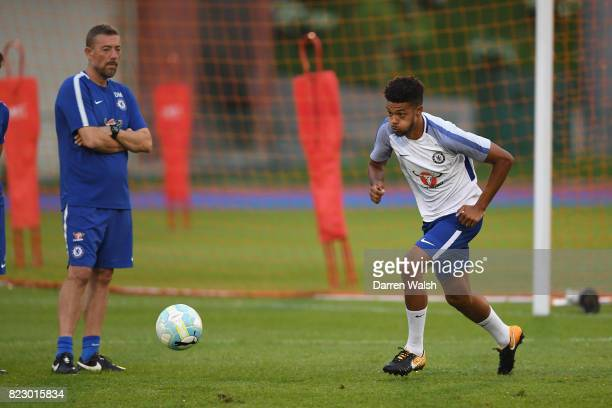 Jake ClarkeSalter of Chelsea during a training session at the Singapore American School on July 28 2017 in Singapore