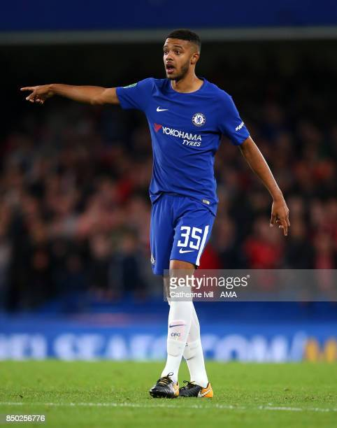 Jake ClarkeSalter of Chelsea during the Carabao Cup Third Round match between Chelsea and Nottingham Forest at Stamford Bridge on September 20 2017...