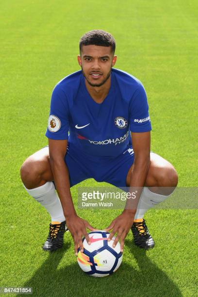 Jake ClarkeSalter of Chelsea during the Chelsea Squad Photocall at Chelsea Training Ground on September 15 2017 in Cobham England