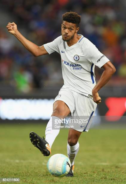 Jake ClarkeSalter of Chelsea in action during the International Champions Cup match between FC Internazionale and Chelsea FC at National Stadium on...