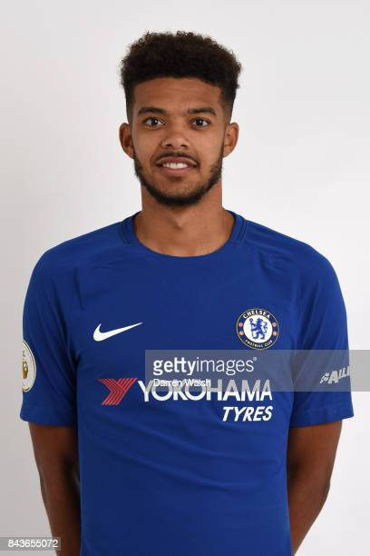 Jake ClarkeSalter of Chelsea poses during the Chelsea photo call at Chelsea Training Ground on August 8 2017 in Cobham England