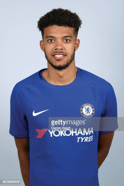 Jake ClarkeSalter of Chelsea poses during the photocell at Chelsea Training Ground on July 3 2017 in Cobham England