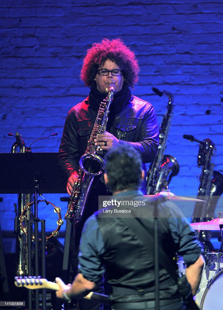 Jake Clemons performs during SiriusXM's concert celebrating 10 years of satellite radio at The Apollo Theater on March 9 2012 in New York City
