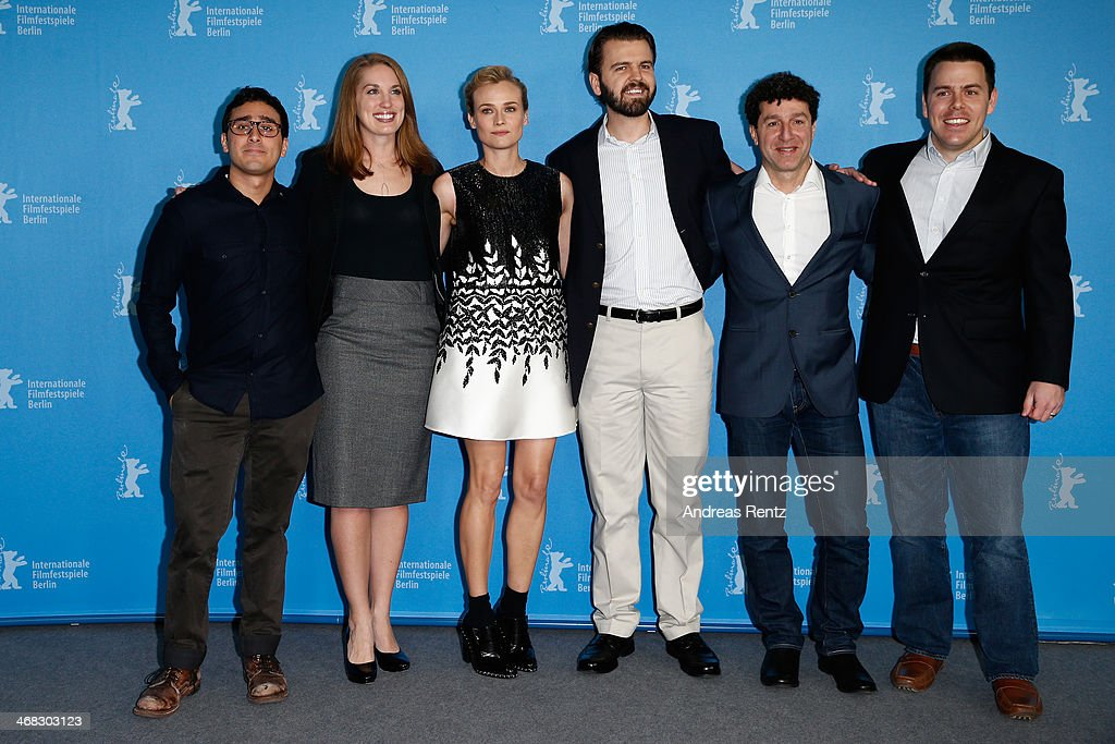Jake DeVito, Elizabeth Lodge, <a gi-track='captionPersonalityLinkClicked' href=/galleries/search?phrase=Diane+Kruger&family=editorial&specificpeople=202640 ng-click='$event.stopPropagation()'>Diane Kruger</a>, A.J. Edwards, Antoine Douaihy and Kevin Kowalski attend 'The Better Angels' photocall during 64th Berlinale International Film Festival at Grand Hyatt Hotel on February 10, 2014 in Berlin, Germany.