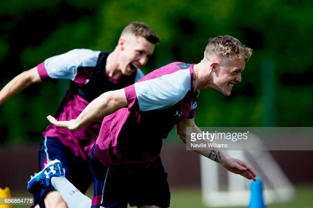 Jake Doyle Hayes of Aston Villa in action during a Aston Villa U23's training session at the club's training ground at Bodymoor Heath on May 22 2017...