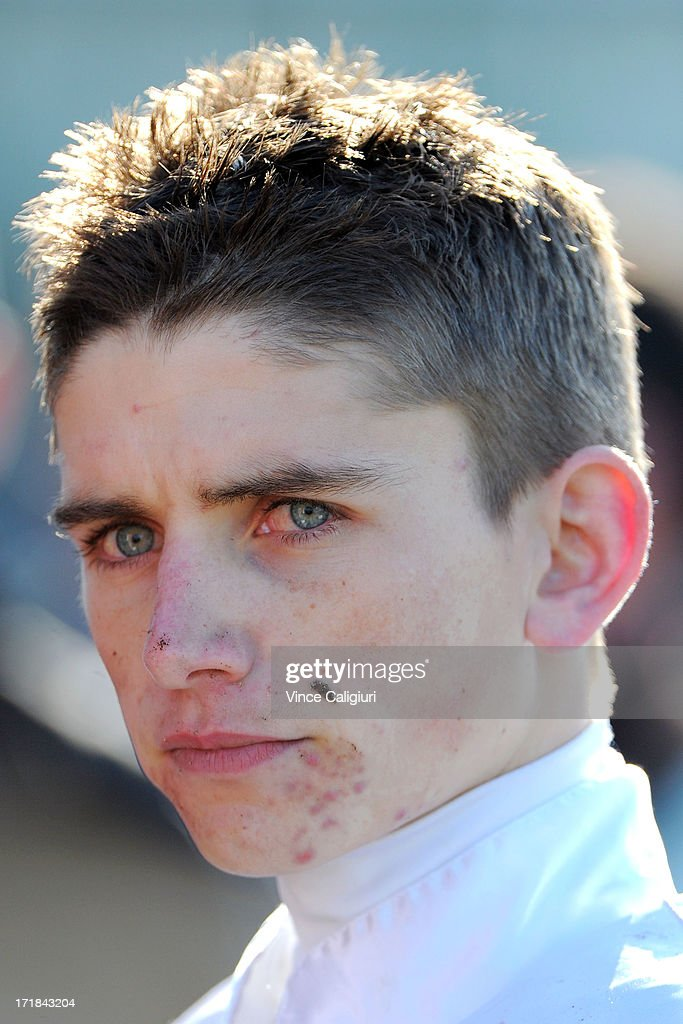 Jake Duffy after winning the Dominant Travis Harrison Cup during Melbourne Racing at Moonee Valley Racecourse on June 29, 2013 in Melbourne, Australia.