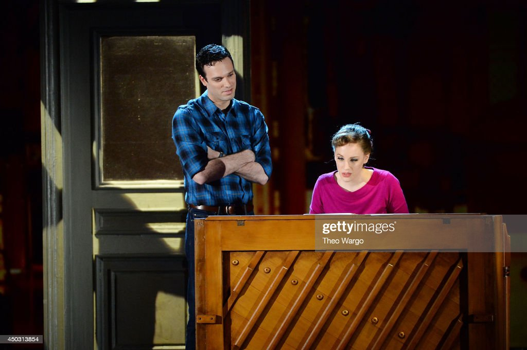 Jake Epstein and <a gi-track='captionPersonalityLinkClicked' href=/galleries/search?phrase=Jessie+Mueller&family=editorial&specificpeople=8736414 ng-click='$event.stopPropagation()'>Jessie Mueller</a> from 'BEAUTIFUL- The Carole King Musical' perform onstage during the 68th Annual Tony Awards at Radio City Music Hall on June 8, 2014 in New York City.