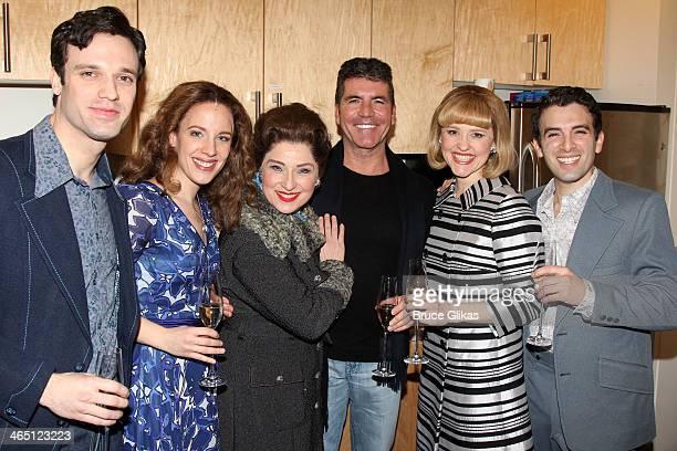 Jake Epstein as 'Gerry Goffin' Jessie Mueller as 'Carole King' Liz Larsen as 'Genie Klein' Simon Cowell Anika Larsen as 'Cynthia Weil' and Jarrod...