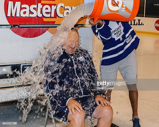 Jake Gardiner dumped a Zamboni full of Ice water on Toronto Maple Leafs head coach Randy Carlyle and then for good measure Nazem Kadri dumped a...